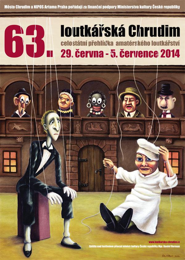 Plakát 63. loutkářské Chrudimi