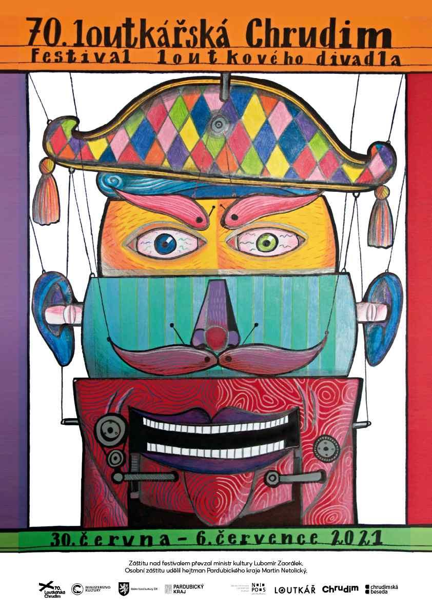 70. loutkářská Chrudim - plakát