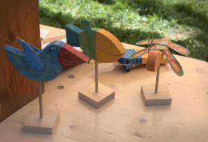 Dřevěná dílna Báry Hubené